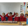 We baked this week to celebrate the children who had September birthdays