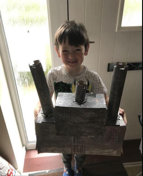 Joey created a royal castle.