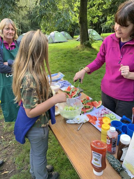 Children make own lunch