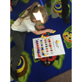 Making patterns with teddy bears