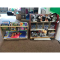 Our book shelf and small world resources