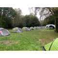All tents put up in perfect line ready for inspection