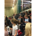 Children and staf at England vs Wasps on Saturday