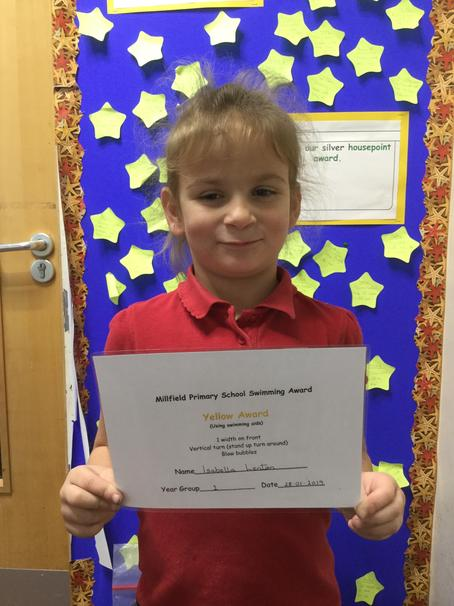 And a swimming certificate was earned, well done!
