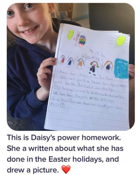 The Power of Positive Thinking!  Well done Daisy!