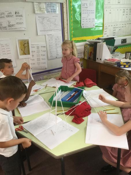 We designed a structure like the Eiffel Tower.