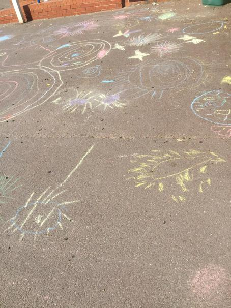 with chalk.