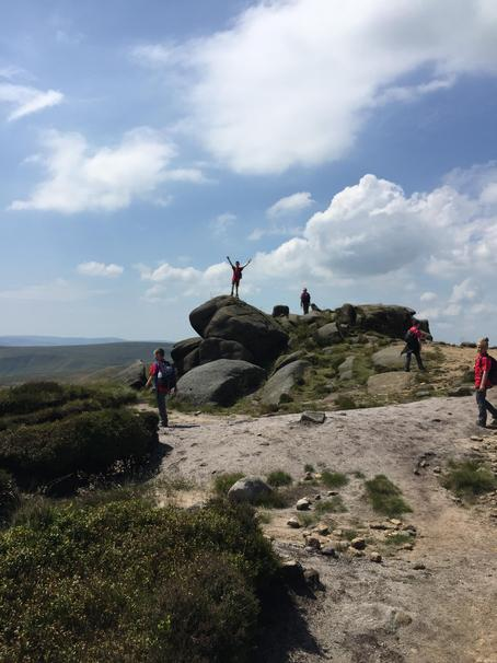 The top of Kinder scout