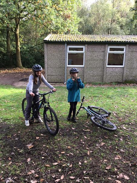 Mountain bike training around the camp
