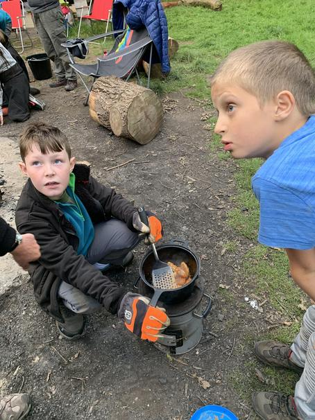 Year 6 cooking for group
