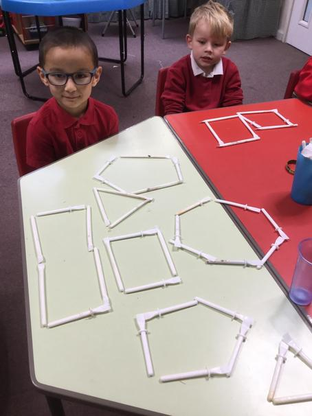 Made lots of 2d shapes in mathematics
