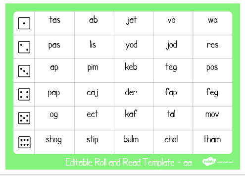 Alien words roll and read 2