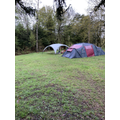 First two tents up