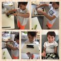 James has been learning to make sushi, yum!