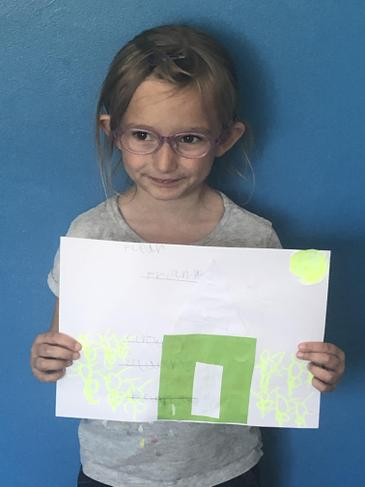 Proud of her home learning!