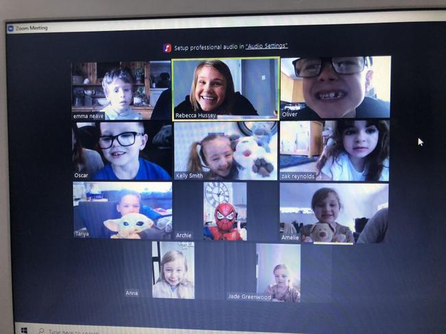 Today, we enjoyed playing the memory game on our class zoom call.