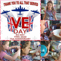 Grace worked hard making her VE Day cake.