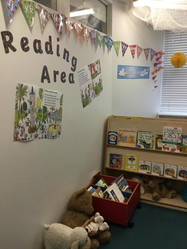 Cosy up with a book in the Reading Area