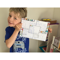 Amazing poster showing all his learning!