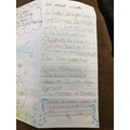 Isla wrote all about dolphins
