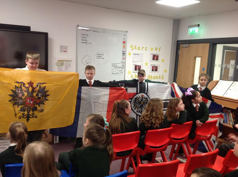 Discussing which countries were involved in W.W.1
