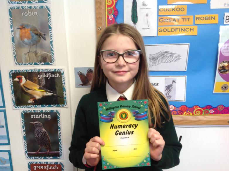 Numeracy Award