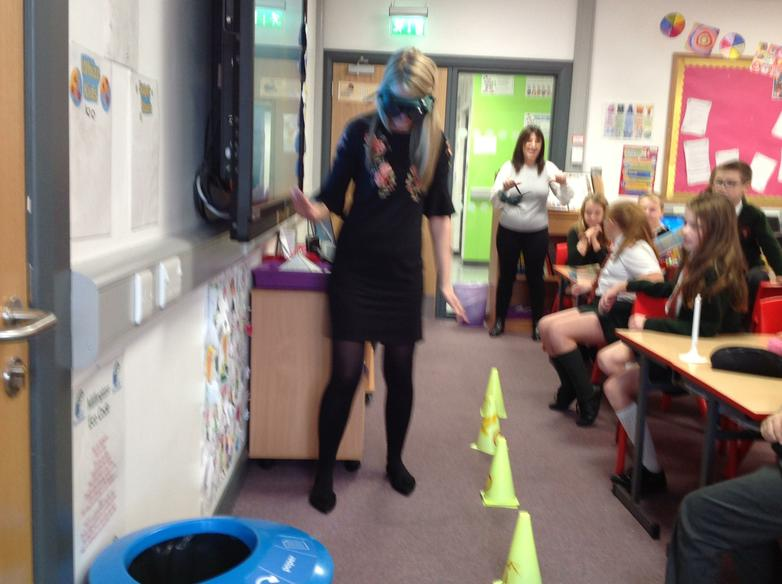 Miss Sleator even had a go!