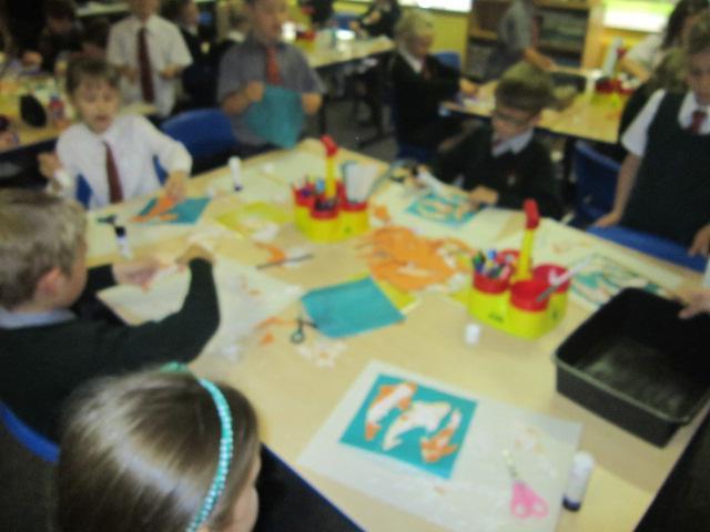 Debbie helped us to add glitter!