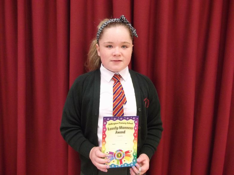Hannah - Lovely Manners Award