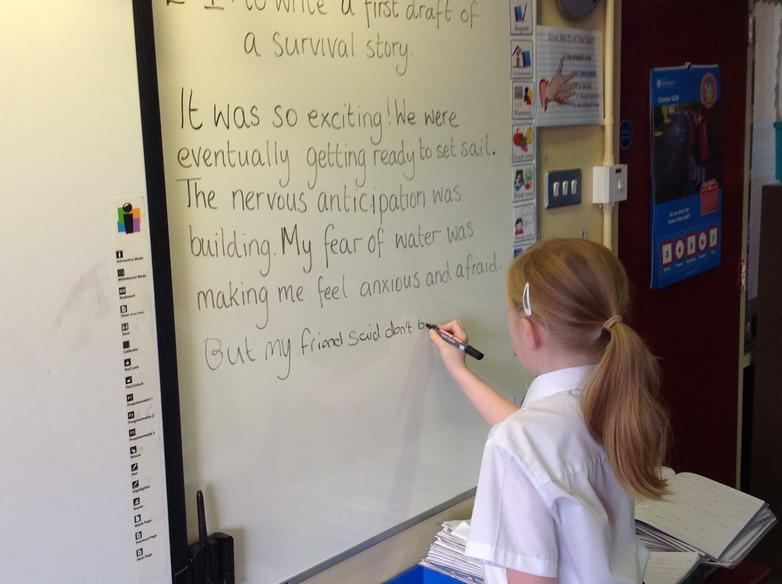 Having a go at adding to our story.