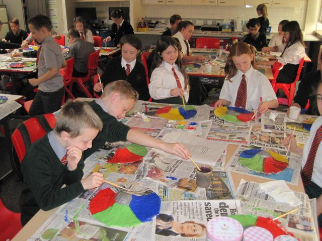 We all enjoyed painting our shields