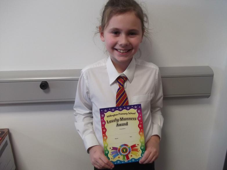 Eva - Lovely Manners Award