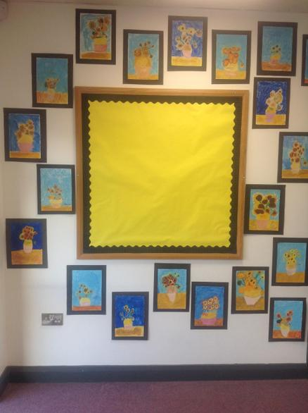 Miss Sleator started to display our work.