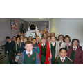 Y4C beside the model astronaut