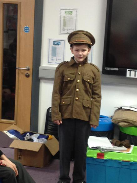 Justas dressed in a British military unifrom