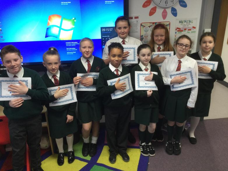 October Accelerated Reader Certificate Winners