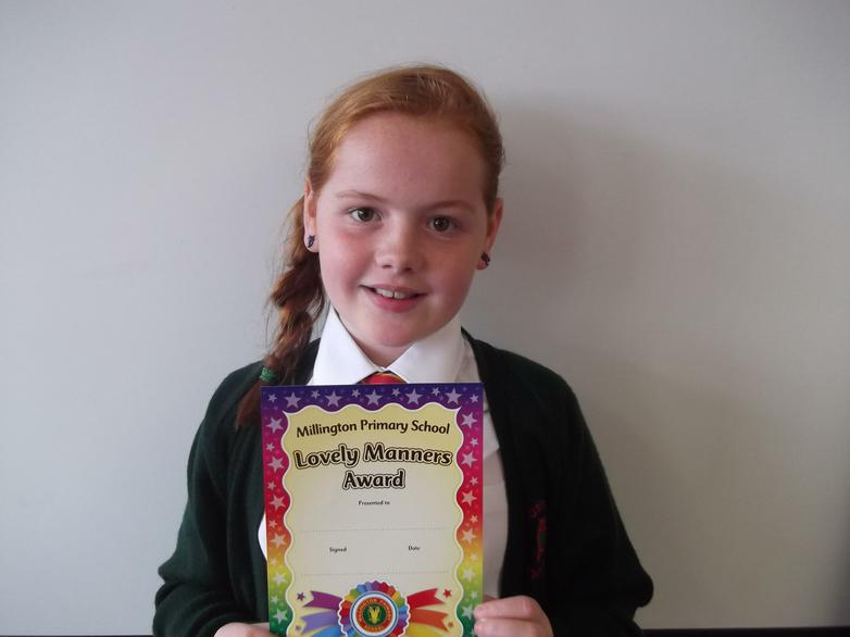 Katie - Lovely Manners Award