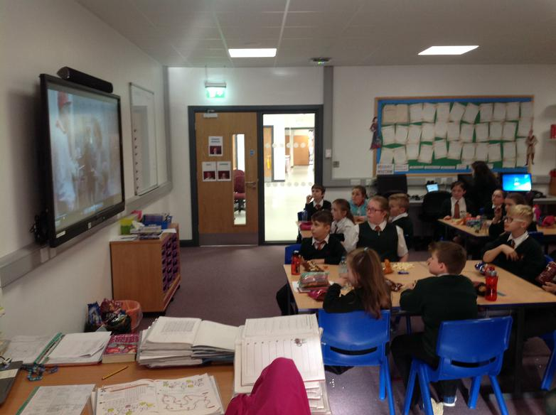 Y6 chose a DVD afternoon with accompanying treats!