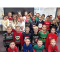 Looking festive in our Christmas jumpers!
