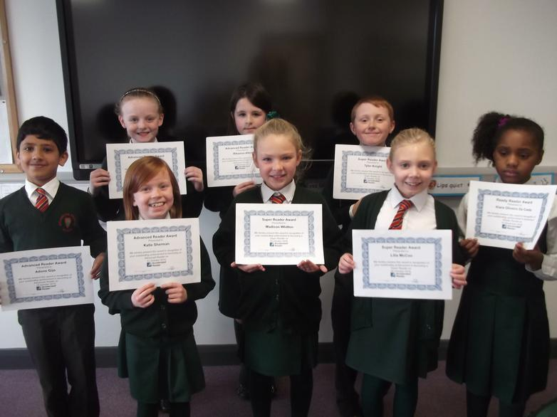 Accelerated Reader Certificates - October