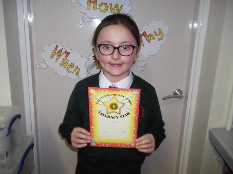 Amy Literacy Star