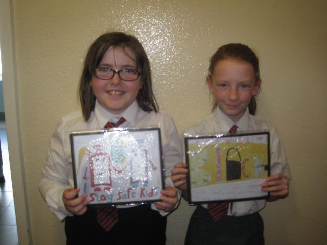 Winners of Internet Safety mouse mats.