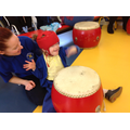 We all loved counting the beat when drumming