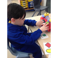 Brandon enjoyed making lovely music with the piano.