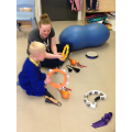 Callum choosing the same instrument as the adult