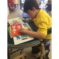 Jack using colourful semantics in literacy