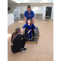 Poppy practicing the steps in our MOVE PE circuit
