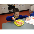 Joseph attempted to spread the jam independently!!