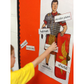 Charlie labels the Roman soldier