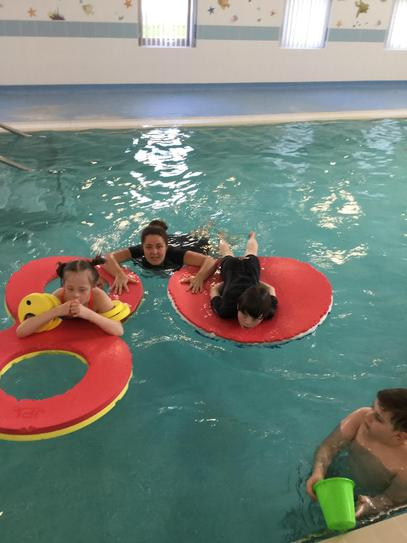 We love using the floats to help us to stay safe in the water.